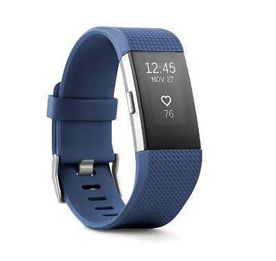 Fitbit Charge 2 Heart Rate + Fitness Wristband, Plum, Large (US Version)