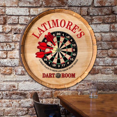 Personalized Barrel Top Sign - Darts