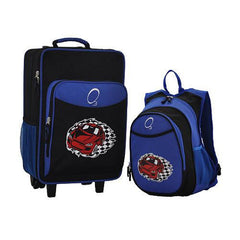 OBERSEE Kids Luggage and Backpack Set With Integrated Cooler - Racecar