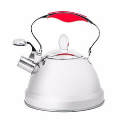 Steel Stainless Steel Whistling Tea Kettle 2.5Qt, Stove Top Kettle Teapot with 5-ply Capsule Bottom