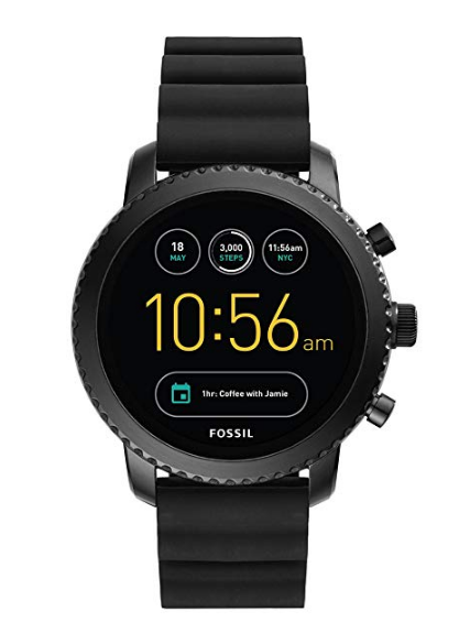Fossil Q Men's Gen 3 Explorist Stainless Steel and Silicone Smartwatch