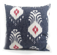 "18"" Navy Blue Ikat Pillow Case Cushion Cover"