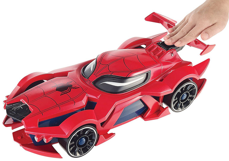 Hot Wheels Marvel Spider-Man Web-Car Launcher