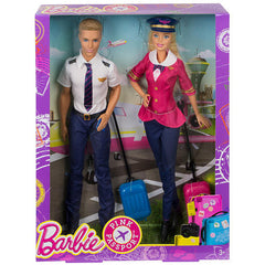 Barbie Pink Passport Pilot and Accessories Dolls