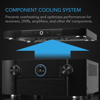 "AC Infinity AIRCOM S9, Quiet Cooling Fan System 17"" for Receivers, Amps, DVR, AV Cabinet Components"