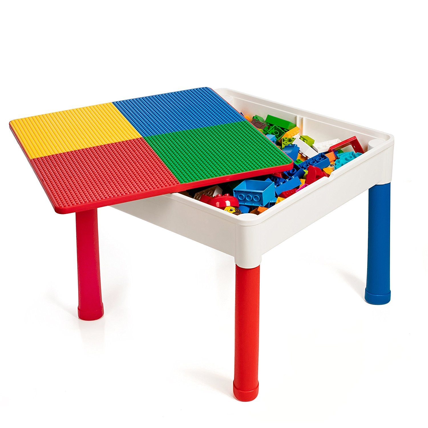 ... Smart Builder Toys Kids 2 In 1 Duplo And Lego Compatible Table With  Large Storage Area ...
