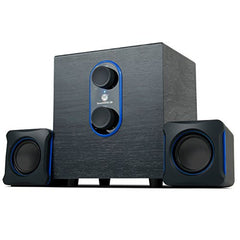 GOgroove LBr 2.1 USB Computer Speakers with Bass Subwoofer & Dual Stereo Satellite Speakers - Works with Apple iMac , HP Stream , Toshiba Satellite , Acer Chromebook & More Computers