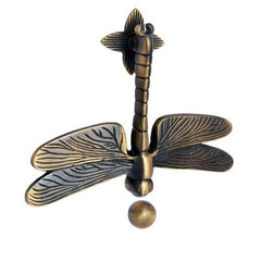 Adonai Hardware Dragon Fly Brass Door Knocker - Antique Brass