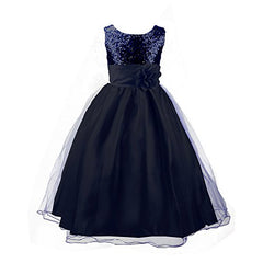 Acecharming Little Girls' Sequin Mesh Flower Ball Gown Party Wedding Tulle Ruffle Dress
