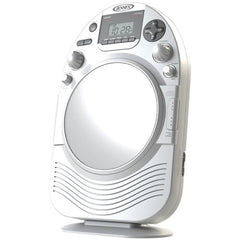1 - AM/FM Stereo Shower Radio with CD, Vertical-loading CD player, AM/FM stereo receiver with digital frequency display, JCR-525