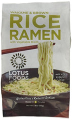 Lotus Foods Wakame & Brown Rice Ramen with Vegetable Soup (Pack of 10)