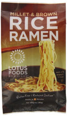 Lotus Foods Rice Ramen Noodles, Millet and Brown Rice, 2.8 oz, 10 Count