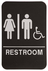 Rock Ridge Unisex Restroom Sign Black/White