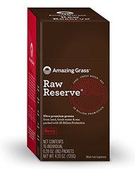 Amazing Grass Raw Reserve Premium Greens, Berry, Individual servings, 15 count