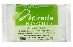 Miracle Noodle Angel Hair Pasta , 7 oz (Pack of 24)