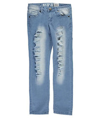 VIP Jeans Big Girls Slash Ladder Jeans