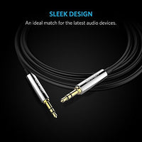 Anker 3.5mm Premium Auxiliary Audio Cable AUX Cable for Headphones, iPods, iPhones, iPads, Home / Car Stereos  (Black)