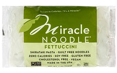 Miracle Noodle Zero Carb, Gluten Free Shirataki Pasta, Fettuccini, 7-Ounce (Pack of 6)