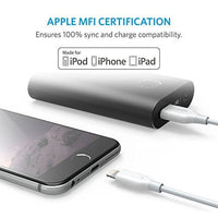Anker PowerLine Lightning (10ft) Apple MFi Certified Lightning Cable / Charger Cord, for iPhone 7/7 Plus 6s/6s Plus/6/6 Plus/5s/5, iPad mini/4/3/2, iPad Pro Air 2(White)