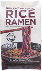 Lotus Foods Purple Potato and Brown Rice Ramen with Vegetable Soup, 10 Count