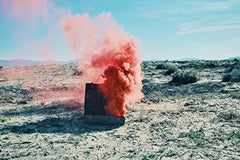 Red Suitcase And Smoke  2017
