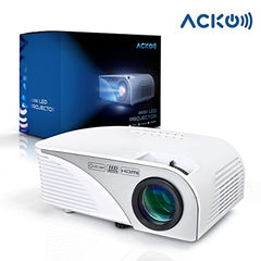 Acko Portable Mini HD LED Video Projector Office Home Theater 1200 LM Multimedia Outdoor 20