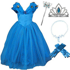 2015 New Cinderella Butterfly Party Dress Costume with Accessories