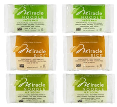 Miracle Noodle Zero Carb, Gluten Free Shirataki Pasta and Rice, 6 count
