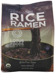 Lotus Foods Organic Rice Ramen Noodles, Forbidden Rice, 10 Ounce, 6 Count