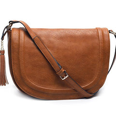 AMELIE GALANTI Large Saddle Bags Purse Tassels Flap Top Crossbody Bags for Women