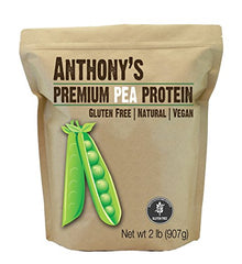 Pea Protein (84% Protein) from Germany by Anthony's (2lb), Gluten-Free