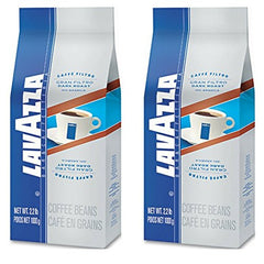 Lavazza Gran Filtro Dark Italian Roast Coffee, Whole Bean (Pack of 2)