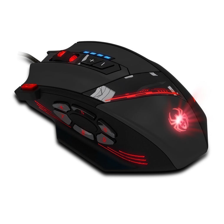 Zelotes 12 Programmable Buttons MMO Gaming Mouse