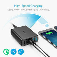 Anker Quick Charge 3.0 63W 5-Port USB Wall Charger, PowerPort Speed 5 for Galaxy S7 / S6 / Edge / Plus, Note 5 / 4 and PowerIQ for iPhone 7 / 6s / Plus, iPad Pro / Air 2 / mini, LG, Nexus, HTC & More