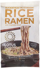Lotus Foods Buckwheat Mushroom Brown Rice Ramen, 2.8 oz |10 Count