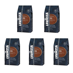 Lavazza Super Crema Espresso - Whole Bean Coffee (Pack of 5)