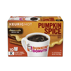 Dunkin' Donuts Flavored Ground Coffee, K-Cup, Pumpkin Spice
