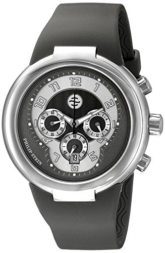 Philip Stein Unisex 32-AGR-RBGR Active Grey Chronograph Rubber Strap Watch
