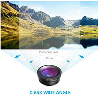 Anker Phone Camera Lens Kit — 180° Fisheye, 0.65x Wide Angle, 10x Macro for iPhone 7/6s/6s Plus, Samsung S7/S6/edge, LG, Moto, HTC, Sony and more (not compatible with Dual Camera phones)