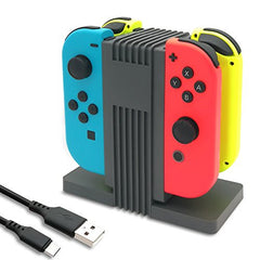 FastSnail Joy-Con Charger for Nintendo Switch with LED Indication, Joy-Cons Charging Dock Station with Type C Cable