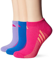 adidas Girls Cushion No Show Socks (Pack of 3)