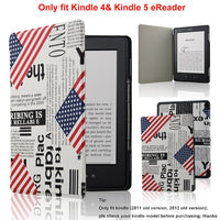 ACdream Ultra Slim Leather Cover Case for Kindle 4 & kindle 5 With Magnet Closure(Only Fit Kindle 2011 and 2012 old version); Not fit kindle 7th gen 2014 Version Or Paperwhite/ kindle touch), US-Flag