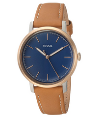 Fossil Neely Three-Hand Luggage Leather Watch