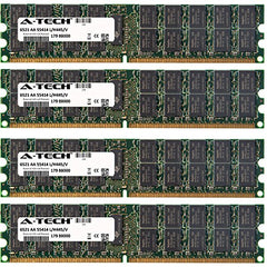 16GB KIT (4 x 4GB) Dell PowerEdge Series 2970 6950 (ECC Registered) M605 M805 M905 R300 R805 R905 SC1435 T300 T605 DIMM DDR2 ECC Registered PC2-5300 667MHz Dual Rank RAM Memory Genuine A-Tech Brand