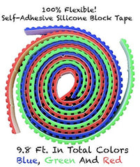 9.8 Ft. Building Block Tape Rolls (3 Pack)