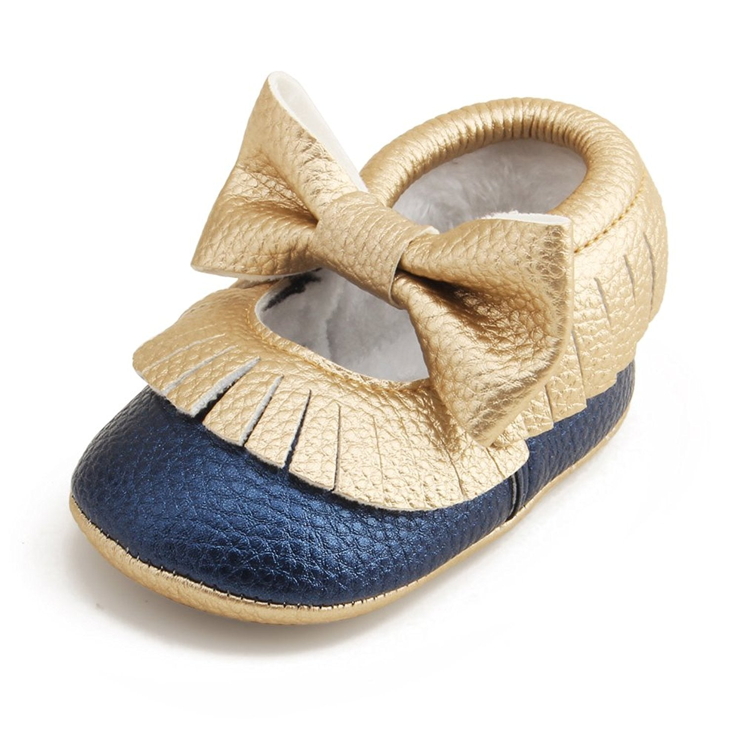 Delebao Infant Toddler Baby Soft Sole Tassel Bowknot Moccasinss Crib