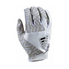 ADIDAS ADIZERO 5.0 FOOTBALL GLOVES - MEN'S - WHITE/GREY