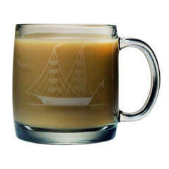 13oz Clipper Handcut Collection Coffee Mugs - Set of 4