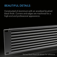 "AC Infinity Rack Panel Accessory Vent 1U Space for 19"" Rackmount, Premium Aluminum Build and Anodized Finish"