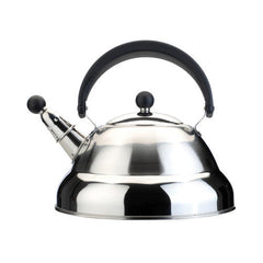 2.7 qt. Stainless Steel Heat-Resistant Melody Whistling Kettle with Practical Cover and Safe Grip Handle